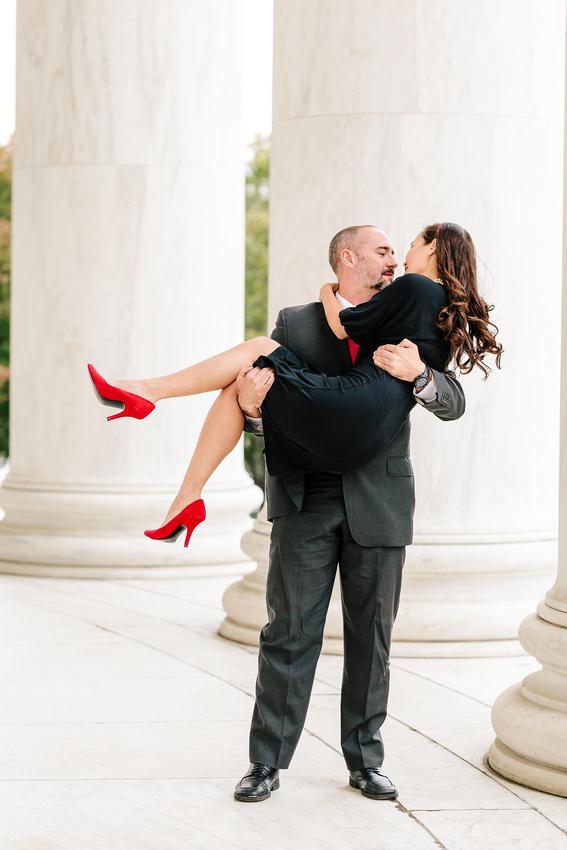 Wasington DC elopement, Jefferson Memorial
