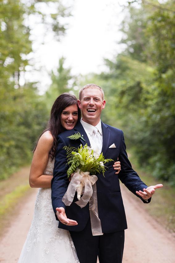 Wedding portrait in Plover, Wisconsin